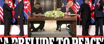 خلع سلاح هستهای به زودی شروع میشود ، ترامپ و اون سند یکسان امضا کردند/ ترامپ